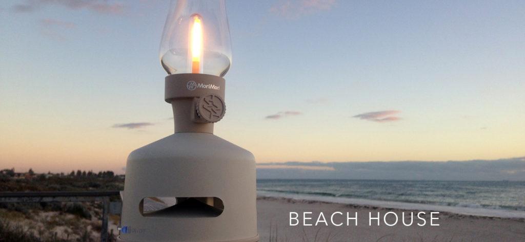 Morimori LED Lantern Speaker BEACH HOUSE
